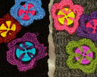 Button Blossom Headbands