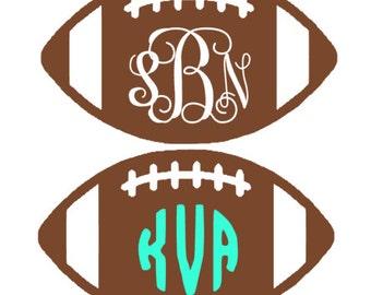 Football Monogram Decal