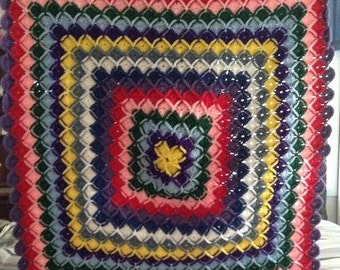 Crocheted lap afghan