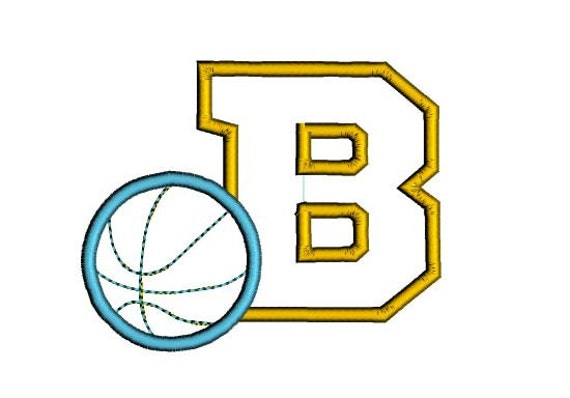 Basketball font embroidery design sports hoop