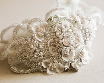 Bridal Garter Set, wedding garters - Style R37
