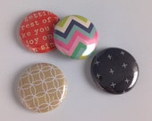 Retro Colors Button Set of 4 Designs. Build your own set or add to your collection!