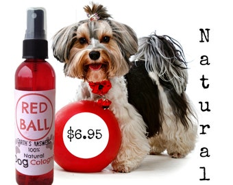 All Natural Red Ball Dog Cologne and Deodorizer Spray for Dogs, Puppies and People