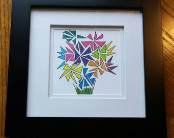 Colorful Flower Bouquet - Framed Print