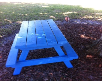 Kids Handcrafted Custom Picnic Table