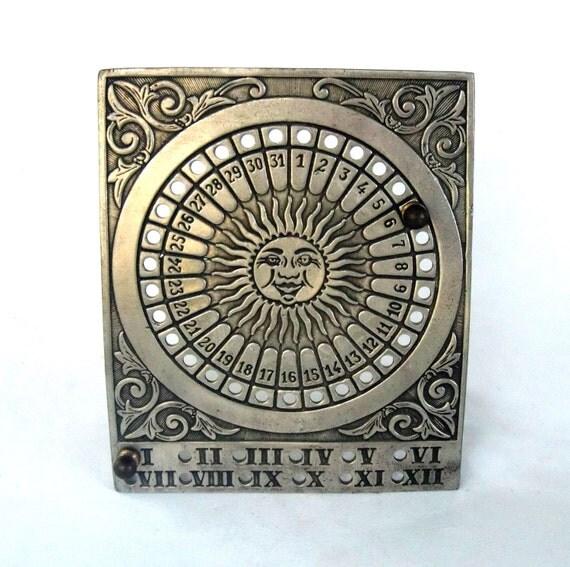 reserved for angela pewter metal desk calendar perpetual