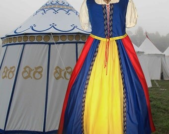 FREE SHIP r Renaissance Celtic Gypsy Medieval SCA Garb Costume Bodice Full Skirt 2Pc lxl