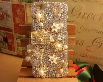 iPhone 7/ 7 plus/ 6 / 6s plus bling shiny case decorated with charms and rhinestone - Bling Crystal case