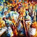 "Wedding Anniversary — Palette Knife Jazz Music Wall Art Oil Painting On Canvas By Leonid Afremov. Size: 40"" X 30"" Inches (100 cm x 75 cm)"
