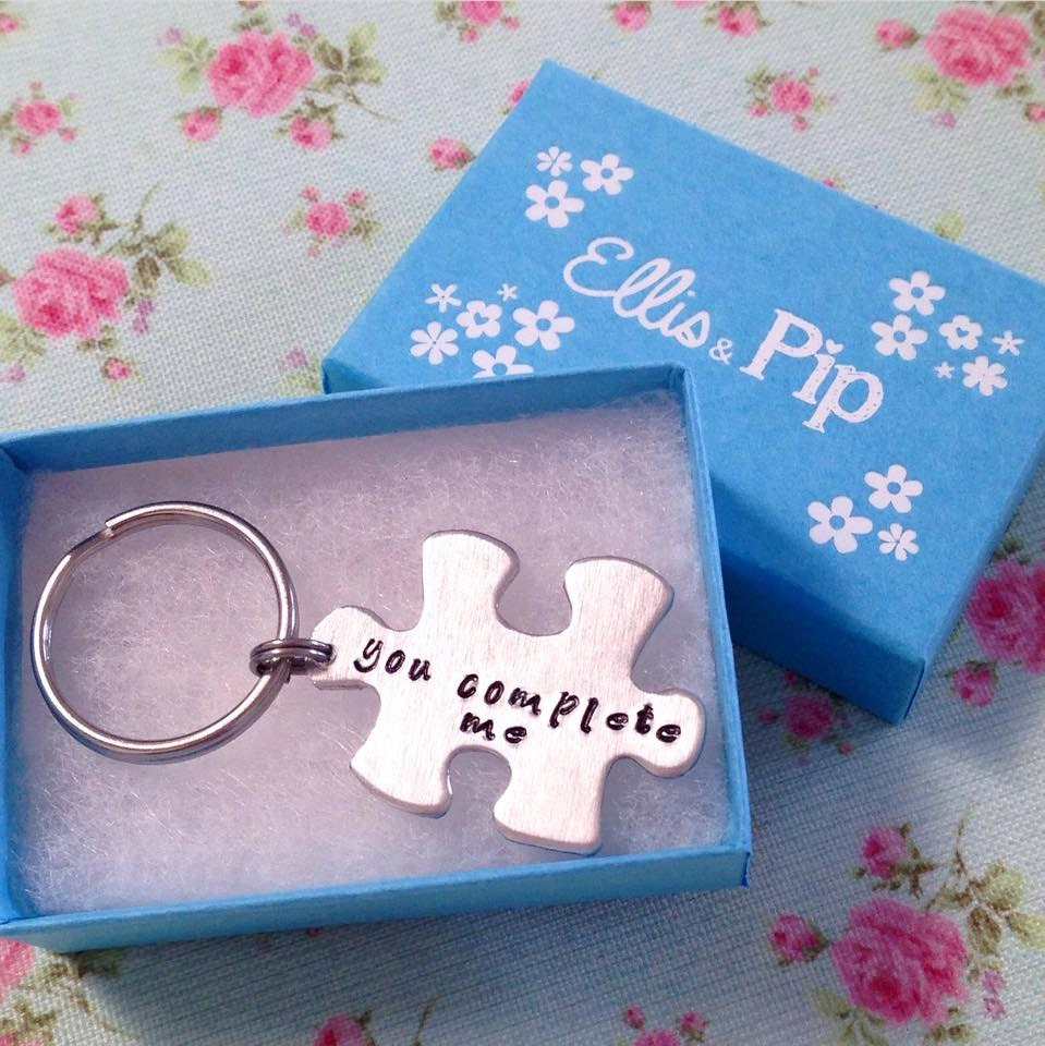 Unique christmas gift for husband puzzle piece keyring Unique christmas gifts for couples who have everything