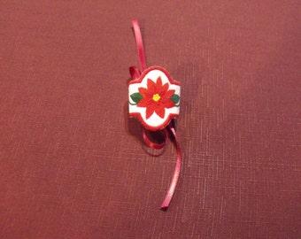 Poinsettia Napkin Ring Set of 4