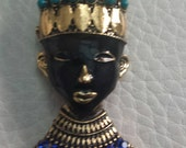 Great Vintage Blackamoor Brooch