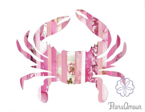 Pink Crab 8 5 X11 Print Maryland Art Pink Crab Floraamour