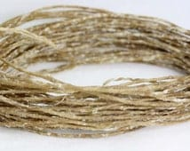 Organic Bees Waxed pure HEMP WICK, TWINE  /  Holds Flame like candle/         10 metre loose lengths