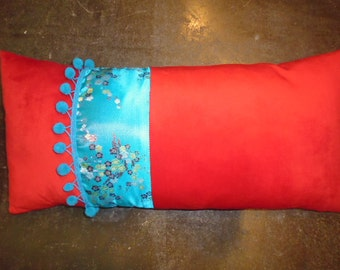 BLUE AND RED cushion