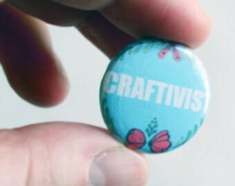 Craftivist: Punk Feminist Pin