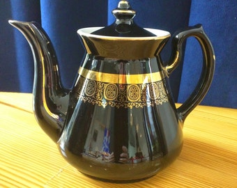 Black and Gold Teapot