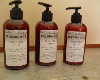 Handmade Men Lotion - Clove - Peppermint - Orange - Barber Shop