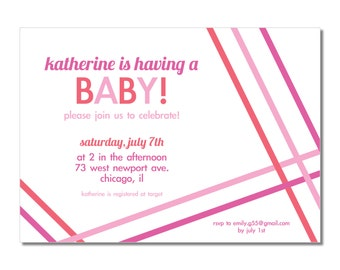 Baby Shower Invitation | On An Angle
