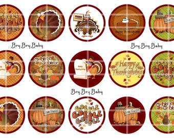 "Thanksgiving Turkey 1"" Gobble Bottle Cap images"