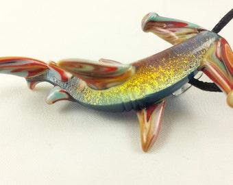 Hammerhead Shark - Glass Pendant Necklace