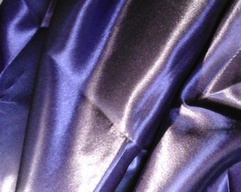 Purple Satin Fabric - Sold by the Yard