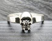 Sterling Silver Skull Memento Mori Ring