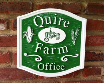 Custom Carved Business Sign - For Farm - Estate - Office