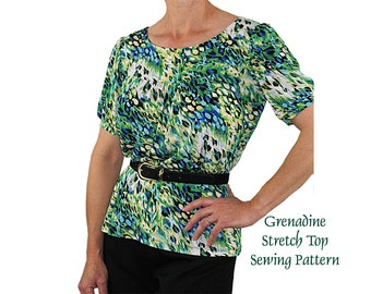 Grenadine Stretch Pullover Sewing Pattern, BSS307