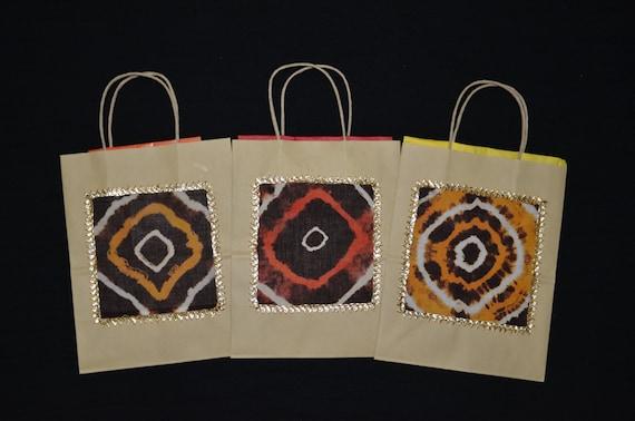 Hindu Wedding Gift Bags : Gift Bags, Indian Wedding Gift Bags, Kraft Gift Bags, Handmade Gift ...