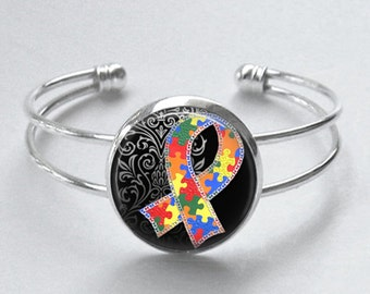 Autism Awareness Bracelet - Autism Awareness - Mother's Day Gift - Black Friday Sale