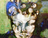 """Ghostly MISERY 136A 16""""x 20"""" Download Abstract Surreal Art"""