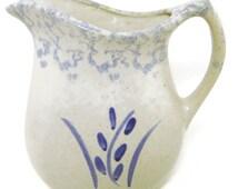 Vintage rrp Robinson Ransbottom Pottery Company Spongeware Wheat Design Water Pitcher usa