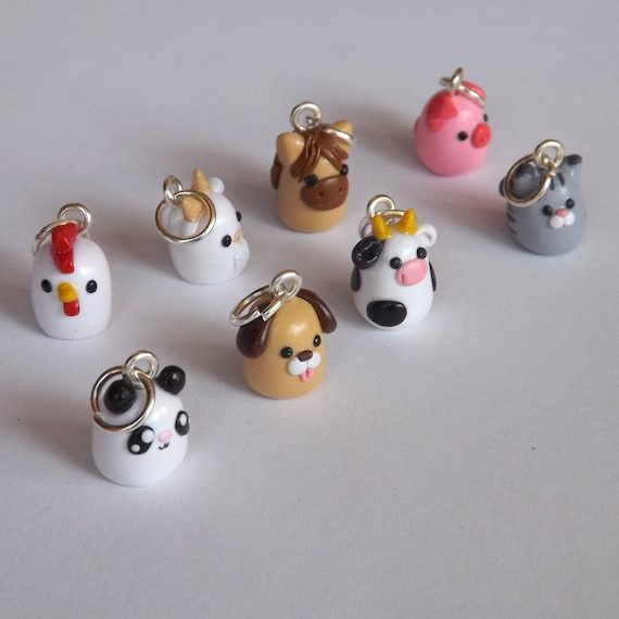 Polymer Clay Animal Charms Miniature Clay Animals Polymer