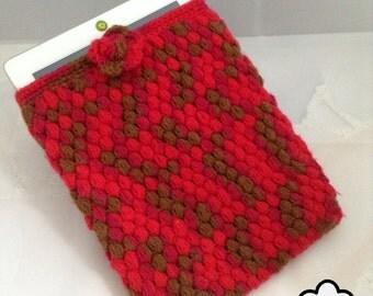 Crochet Ipad Case  , Ipad Sleeve , Ipad Cozy , ipad holder
