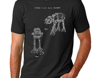 Star Wars AT-AT Walker Patent T Shirt, Starwars Shirt, Star Wars Shirt, Star Wars Gift PP0146