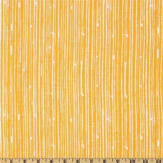 Premier Prints Scribble Stripe Slub Corn Yellow By