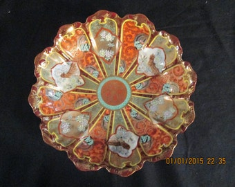 Elegant vintage Satsuma bowl