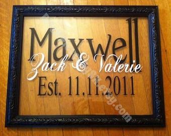 Established Wedding Frame / Wedding Party Gift / Bride Groom Bridesmaid Flower Girl Ring Bearer Maid of Honor