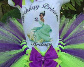 Hand made Princess Tiana inspired shirt, Princess and the Frog, birthday shirt