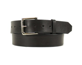 Premium Black Full Grain Harness Leather Belt