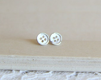 Sterling Silver button Ear posts. Everyday Earrings