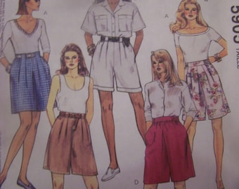 McCalls 5905, Size 12-16, Misses, womens shorts  UNCUT sewing pattern, craft supplies