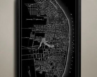 ST. LOUIS Map Print Poster