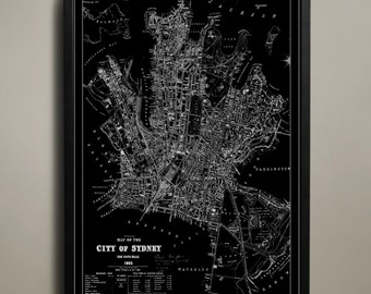 SYDNEY Map Print Poster