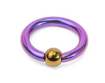 8g Titanium or Niobium Captive Bead Ring - Handmade - Price Per 1