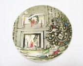 Christmas Plate - Small Johnson Bros Christmas Dish - Made in England - Christmas Gift Stocking Stuffer
