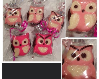 Owl chocolate covered Oreos or  chocolate lollipops-baby shower Favors