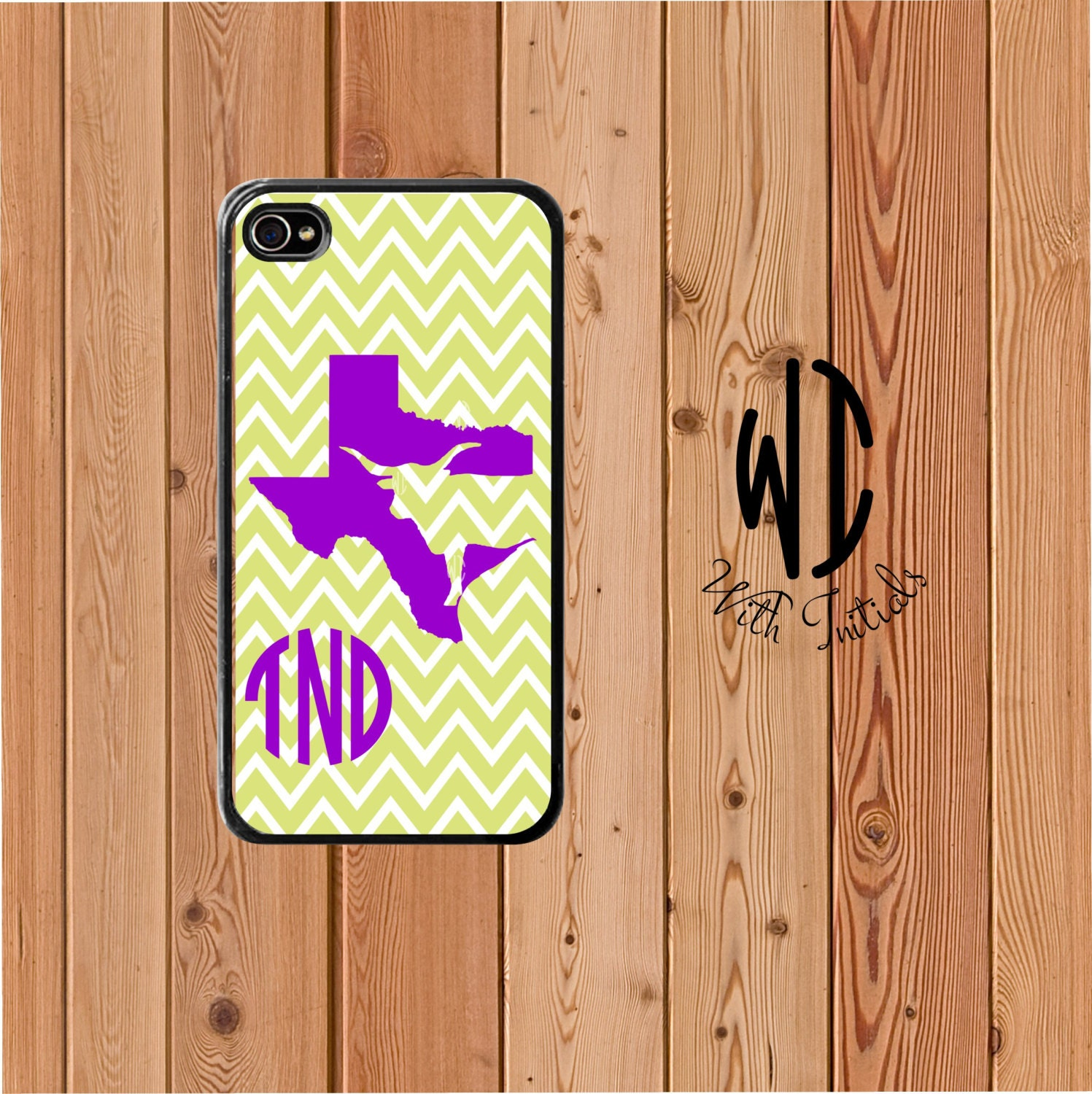 personalized monogram iphone 5  5s case texas state longhorn