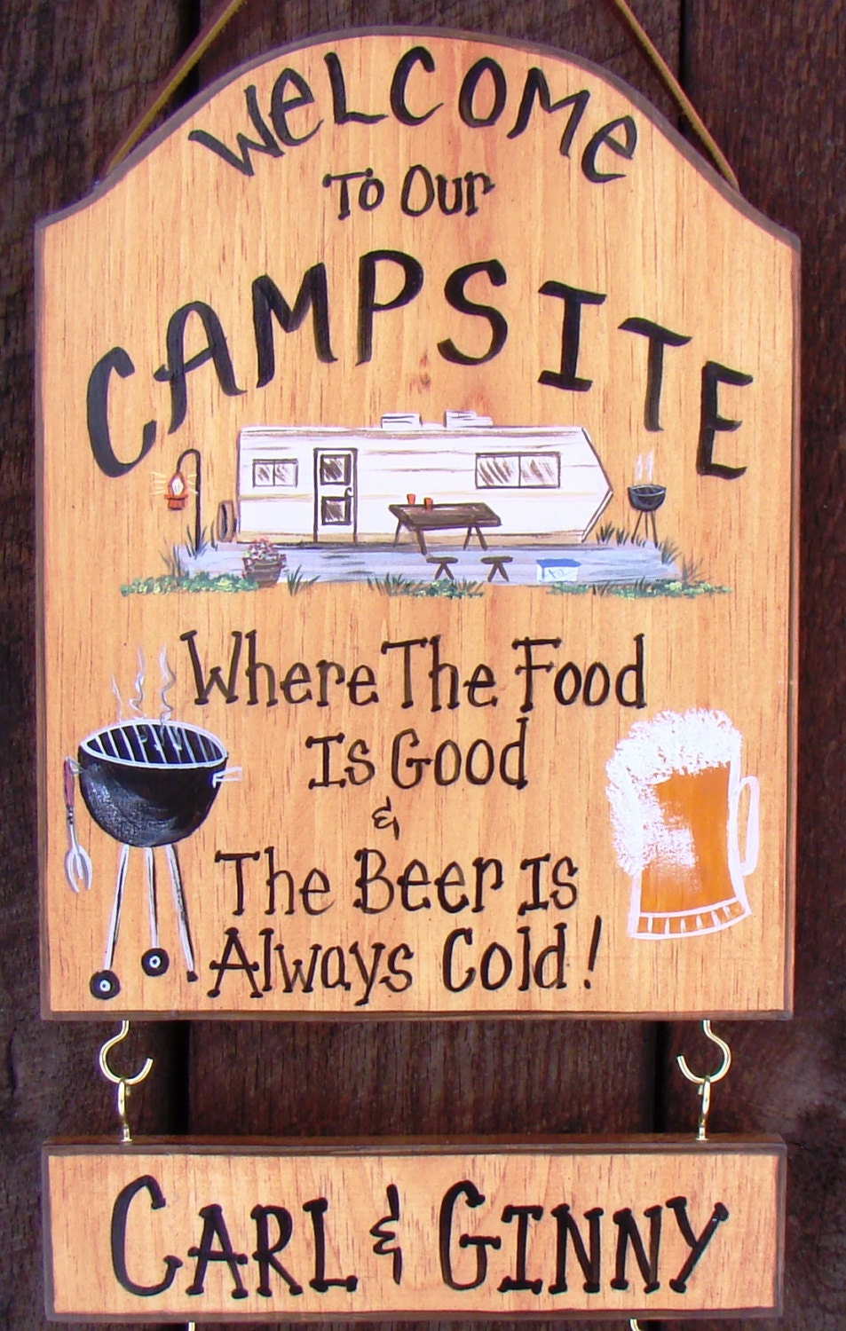 Welcome To Our Camper Sign For Camp Or Rv Lake Motorhome